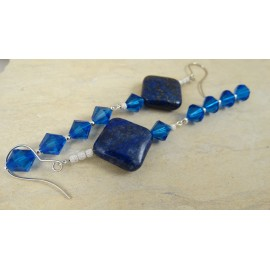 Sterling silver earrings BLUE ARENA