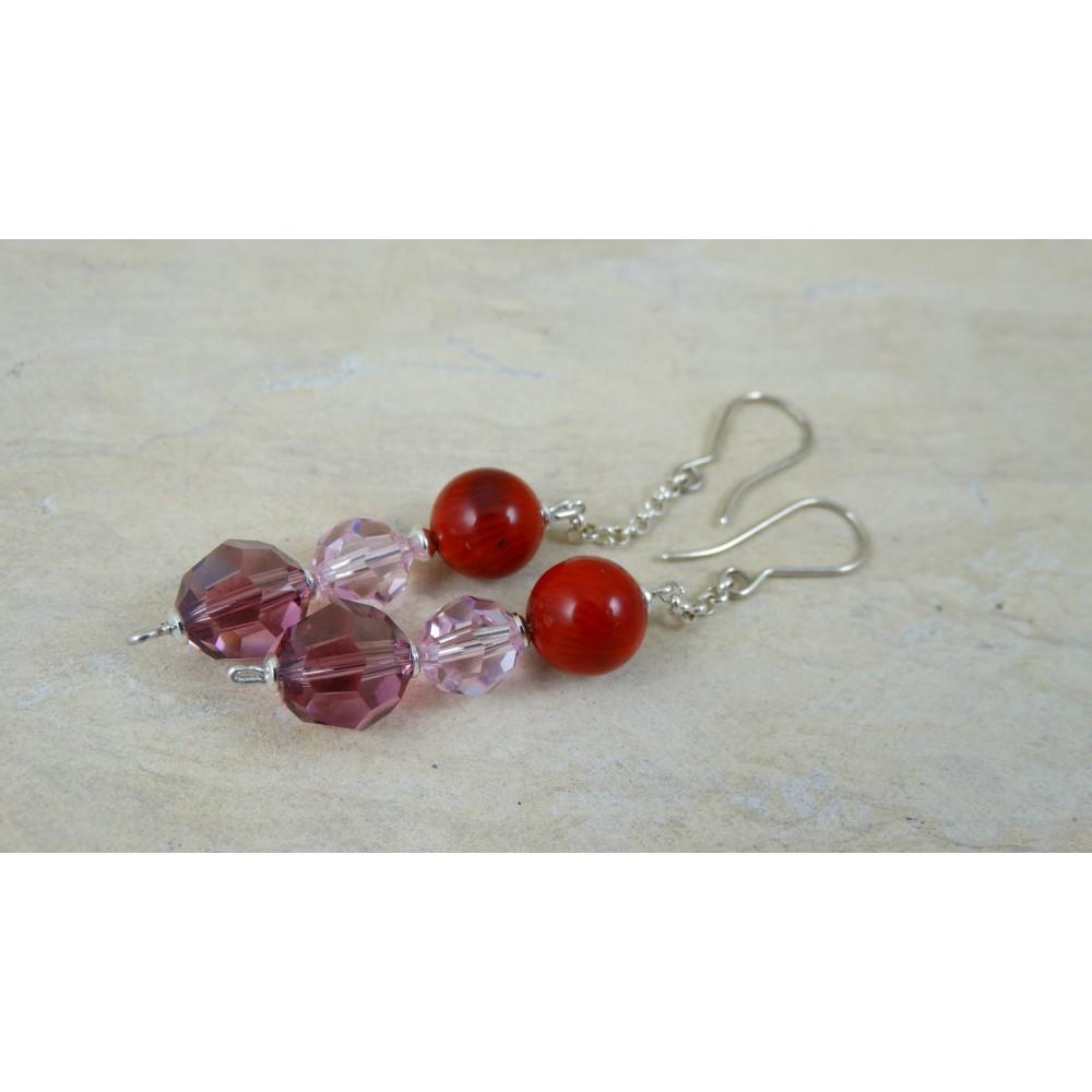 Sterling silver earrings Delilah