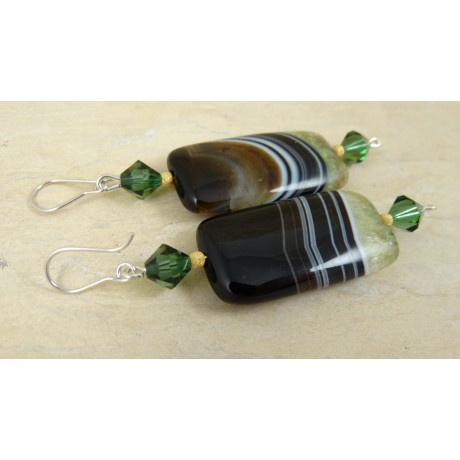 Sterling silver earrings Mela, Bijuterii de argint lucrate manual, handmade