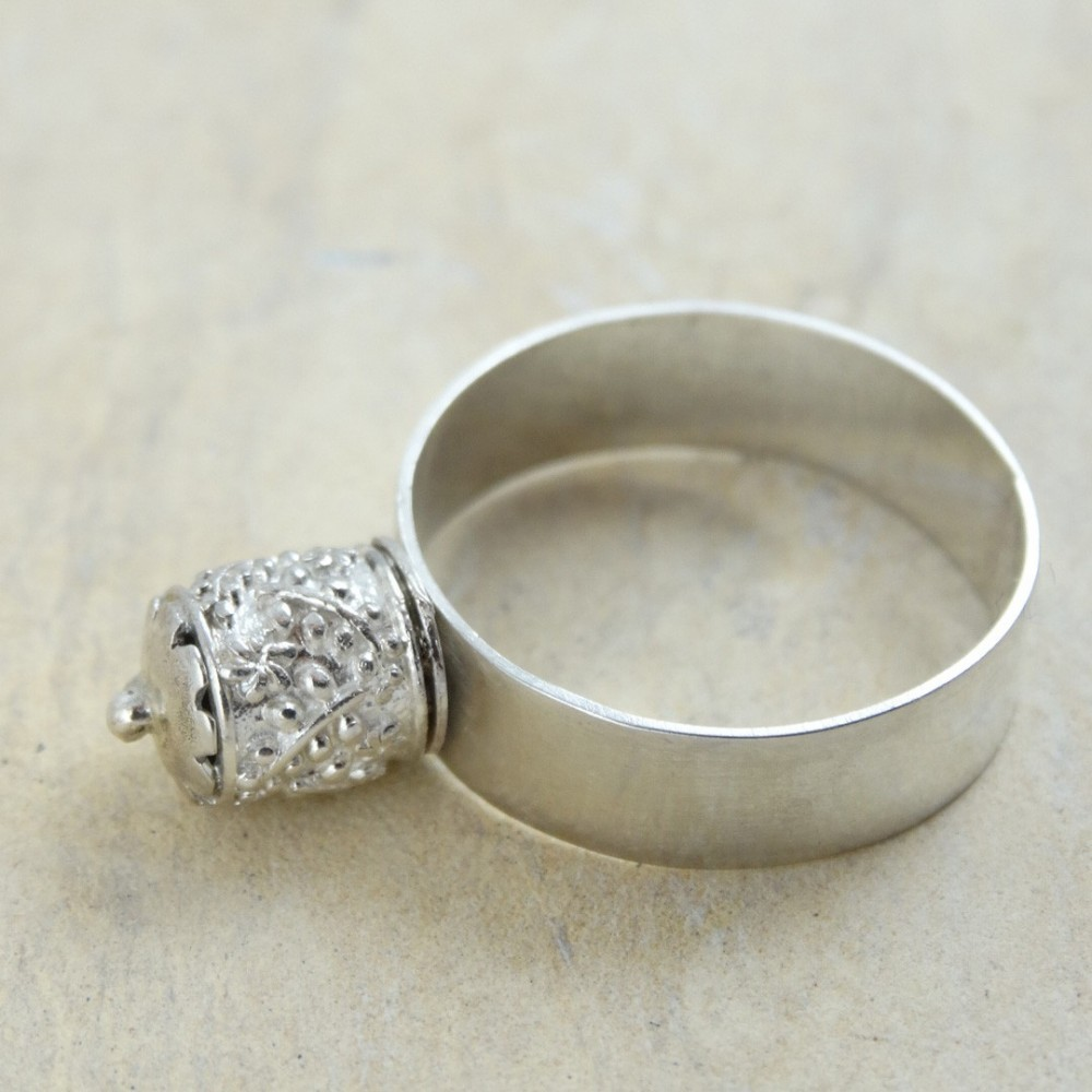 Sterling silver ring Towerlet