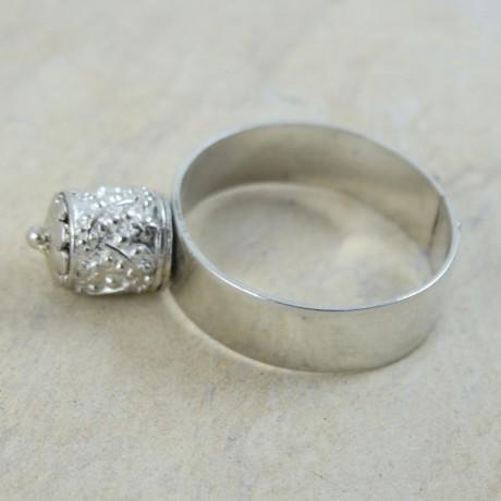 Sterling silver ring Towerlet, Bijuterii de argint lucrate manual, handmade