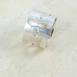 Sterling silver ring Apertures