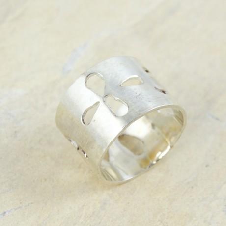 Sterling silver ring Apertures, Bijuterii de argint lucrate manual, handmade