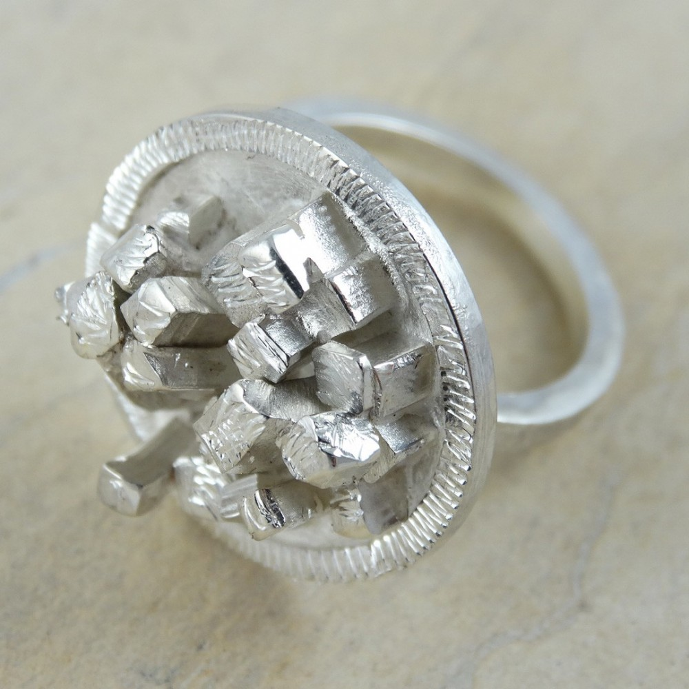 Sterling silver ring Urban Jungle