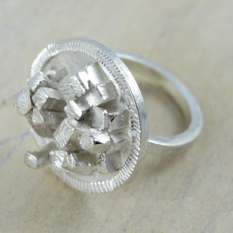 Sterling silver ring Urban Jungle, Bijuterii de argint lucrate manual, handmade
