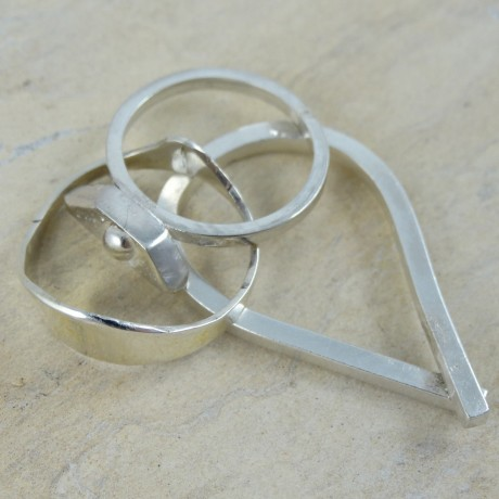Sterling silver ring Crave, Bijuterii de argint lucrate manual, handmade