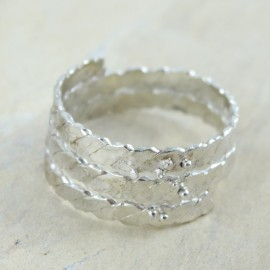 Sterling silver ring Swirl