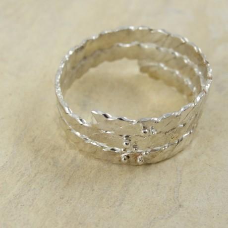 Sterling silver ring Swirl, Bijuterii de argint lucrate manual, handmade