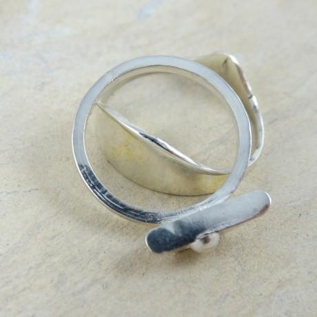 Sterling silver ring Duckie, Bijuterii de argint lucrate manual, handmade
