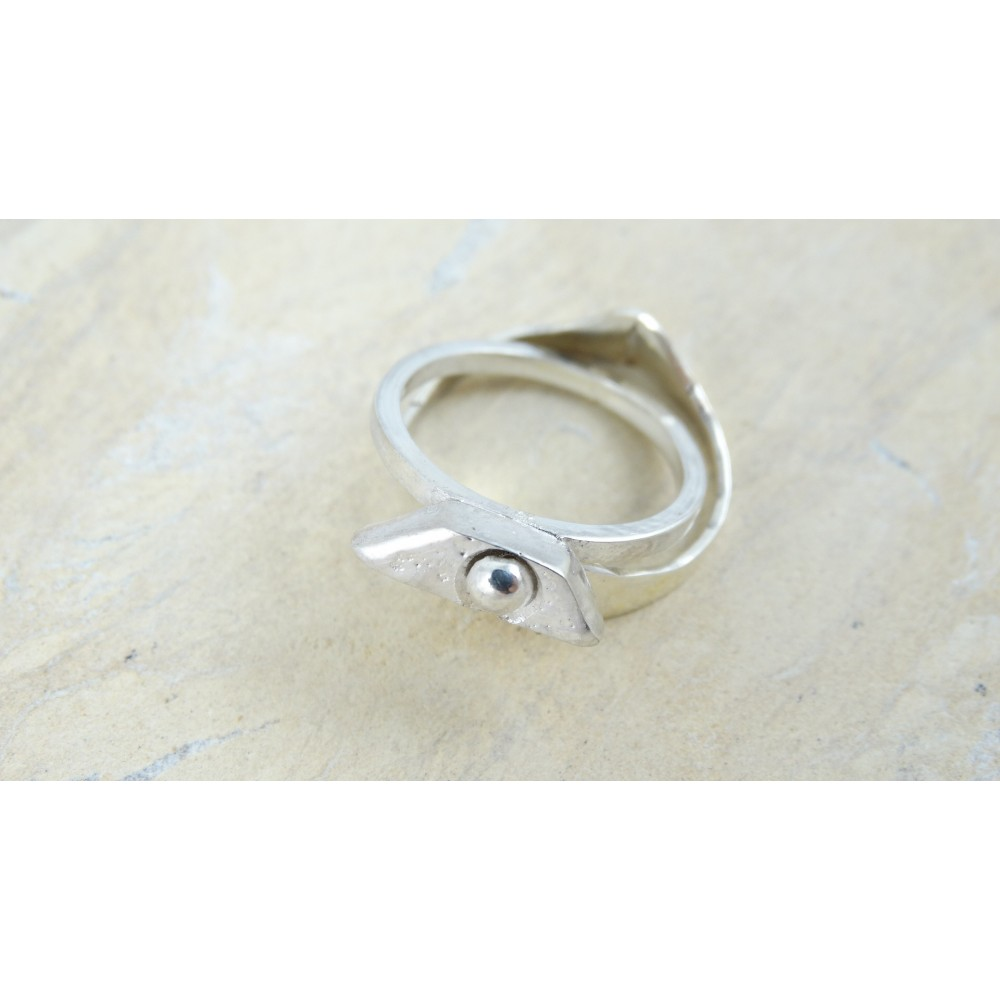 Sterling silver ring Sparkle