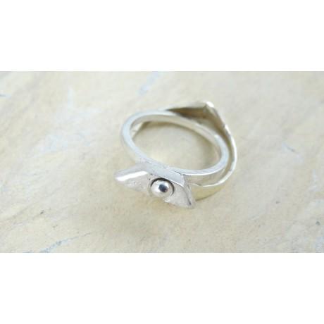 Sterling silver ring Sparkle, Bijuterii de argint lucrate manual, handmade