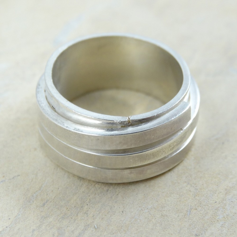 Sterling silver ring Drive