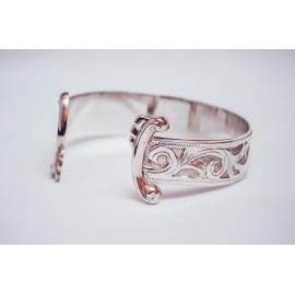 Sterling silver bracelet, engraved, handmade & handcrafted, Bijuterii de argint lucrate manual, handmade