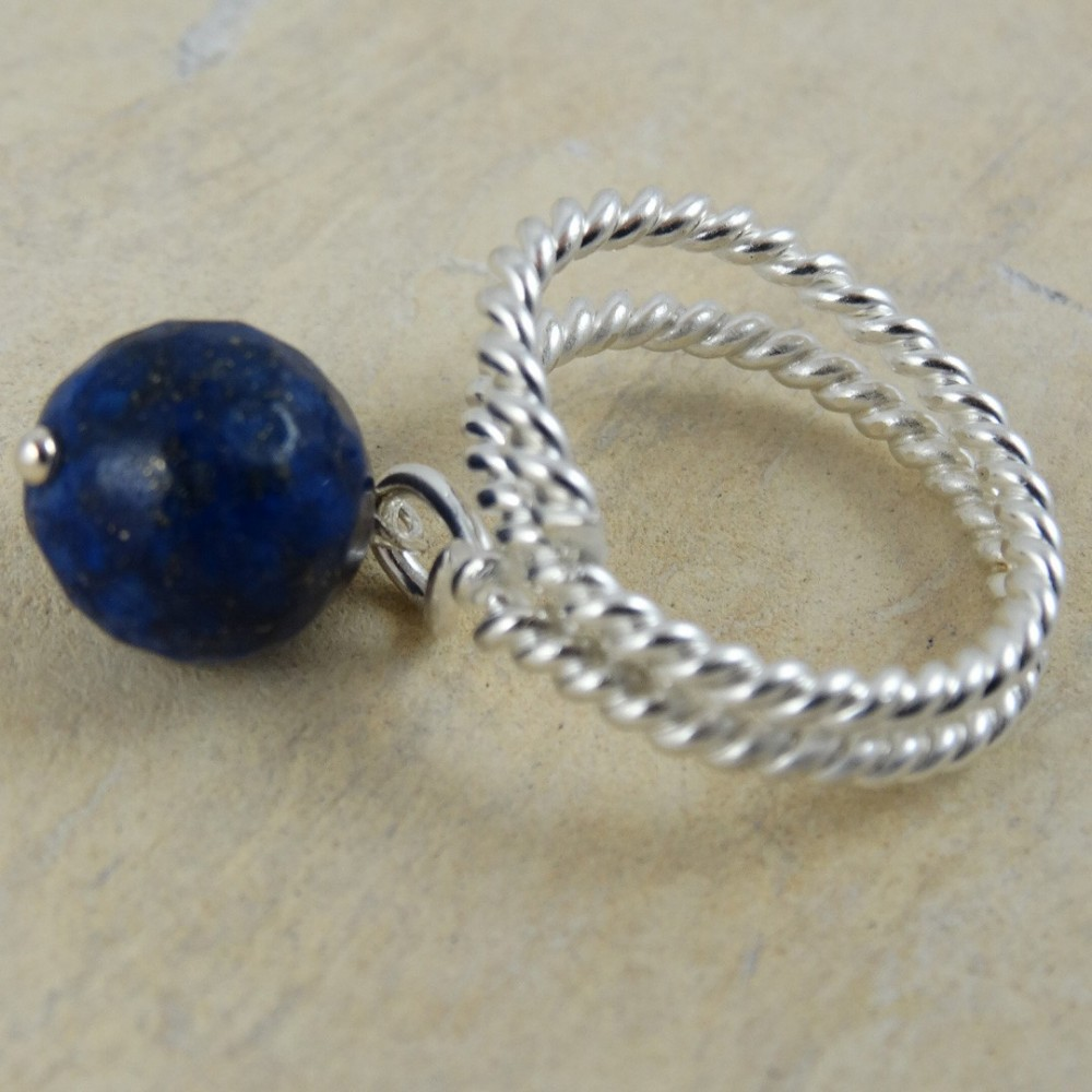 Sterling silver ring Blue Bias