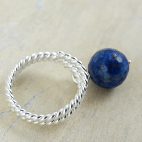 Sterling silver ring Blue Bias, Bijuterii de argint lucrate manual, handmade