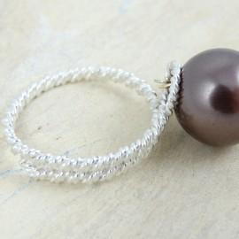 Sterling silver ring Hazel Bias