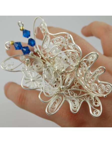 Inel UNICAT Flamboyance, Bijuterii de argint lucrate manual, handmade