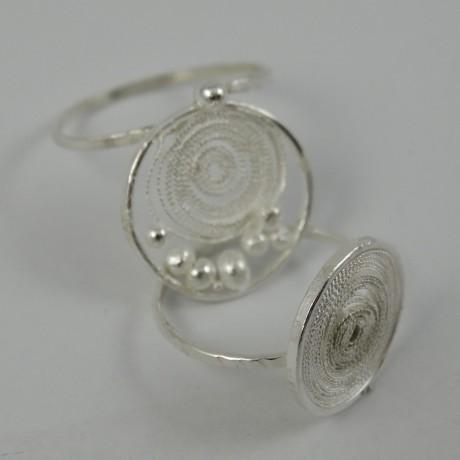 Sterling silver rings with filigree Skinny, Bijuterii de argint lucrate manual, handmade
