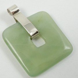 Sterling silver pendant Greenish