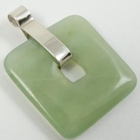 Sterling silver pendant Greenish, Bijuterii de argint lucrate manual, handmade