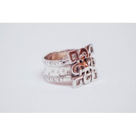 Inel argint 925, handmade& handcrafted, Bijuterii de argint lucrate manual, handmade