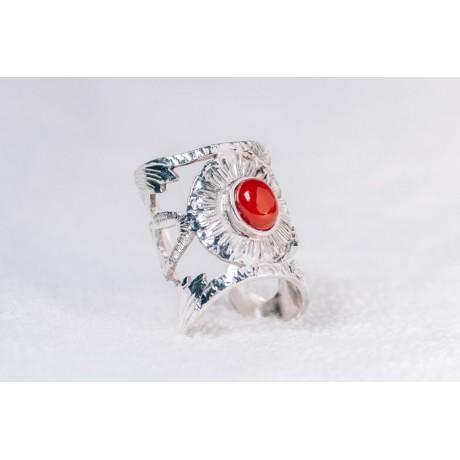 Large sterling silver ring, Bijuterii de argint lucrate manual, handmade