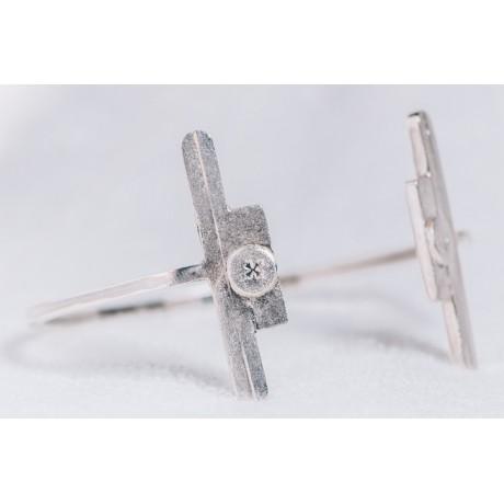 Sterling silver bracelet, Bijuterii de argint lucrate manual, handmade