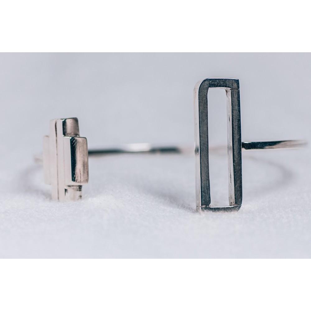 Sterling silver bracelet, geometrical