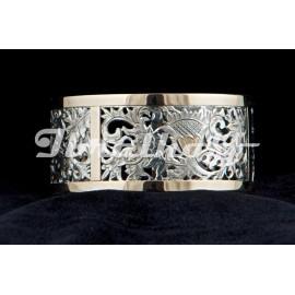 Silver and gold bracelet, Bijuterii de argint lucrate manual, handmade