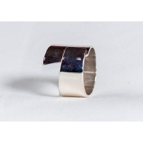 Large sterling silver ring, handmade& handcrafted, design by Ibralhoff, Bijuterii de argint lucrate manual, handmade