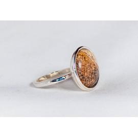 Inel argint 925 cu  picture jasp, handmade & handcrafted, design by Ibralhoff