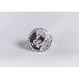 Sterling silver ring with zodiacal lion, engraved, handmade & handcrafted, design by Ibralhoff
