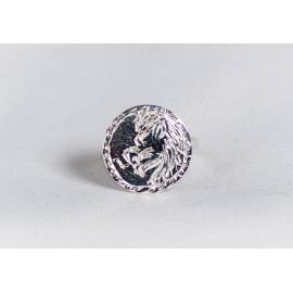Inel argint 925 cu simbol zodiacal, leu gravat, handmade & handcrafted, design by Ibralhoff