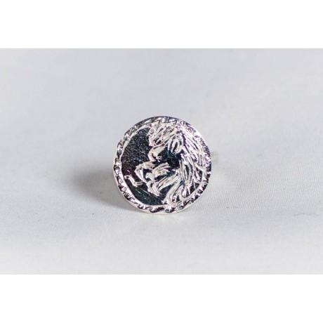Inel argint 925 cu simbol zodiacal, leu gravat, handmade & handcrafted, design by Ibralhoff, Bijuterii de argint lucrate manual, handmade