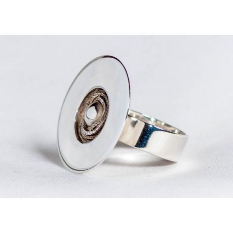 Sterling silver ring, handmade & handcrafted, design by Ibralhoff, Bijuterii de argint lucrate manual, handmade