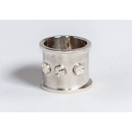 Large sterling silver ring , hand made & handcrafted, design by Ibralhoff, Bijuterii de argint lucrate manual, handmade