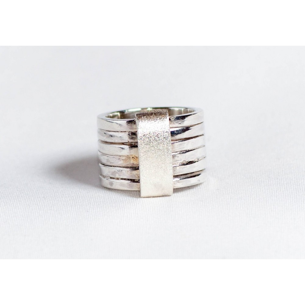 Large sterling silver ring, handmade & handcrafted