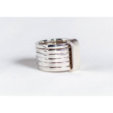 Large sterling silver ring, handmade & handcrafted, Bijuterii de argint lucrate manual, handmade