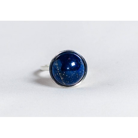 Sterling silver ring with lapis lazuli, handmade & handcrafted, design by Ibralhoff, Bijuterii de argint lucrate manual, handmade