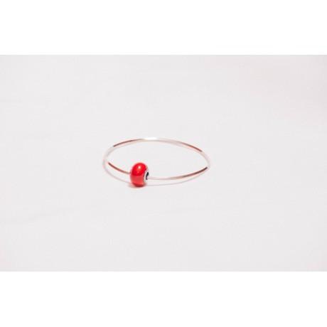 Bratara Code in Scarlet, Bijuterii de argint lucrate manual, handmade