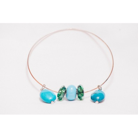 Bratara Emotion in Turquoise, Bijuterii de argint lucrate manual, handmade
