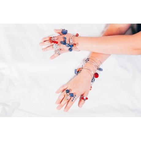 Inel Coral Jingle, Bijuterii de argint lucrate manual, handmade